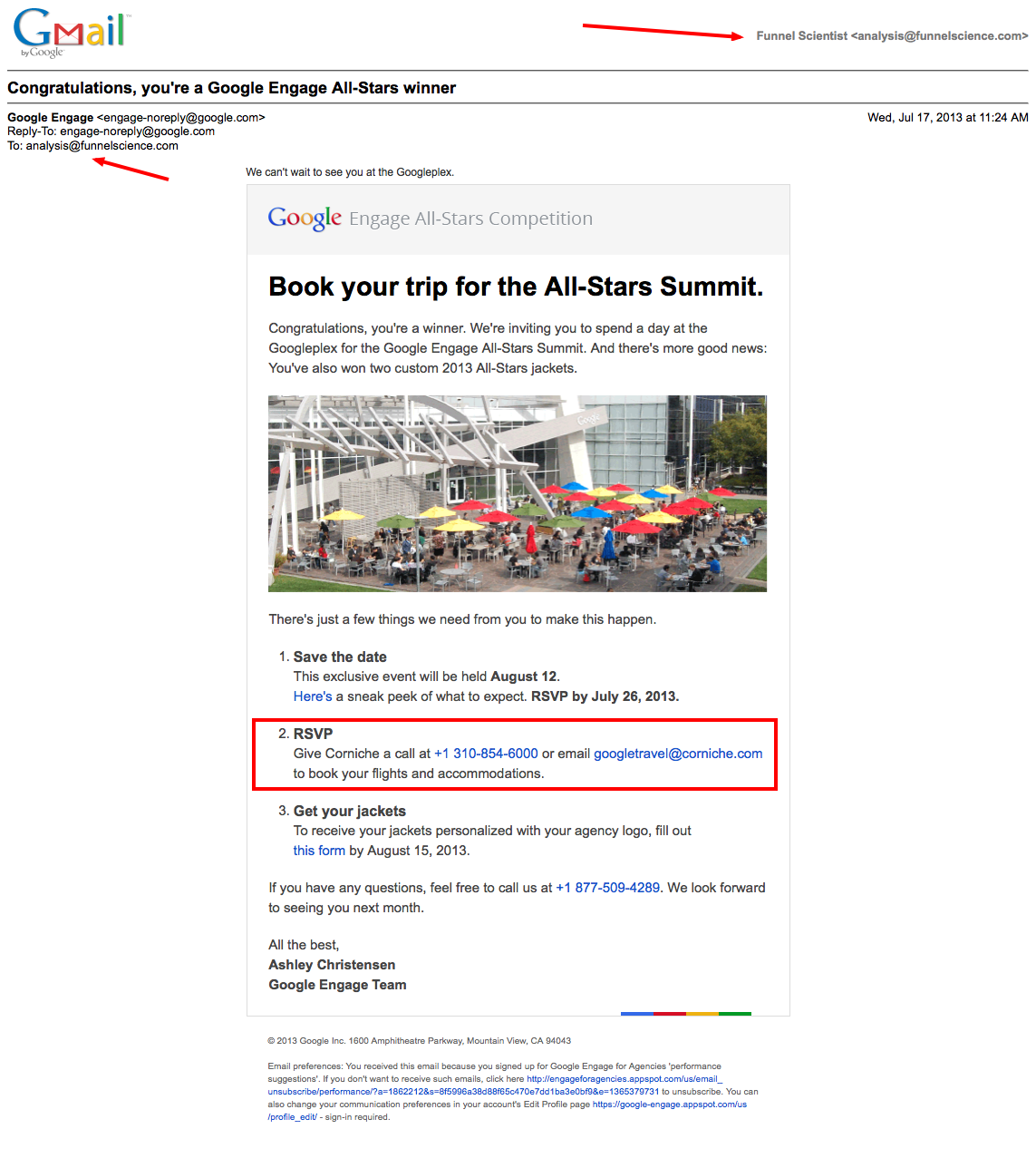 Funnel Science Internet Marketing - Congratulations, you're a Google Engage All-Stars winner 2013-07-17