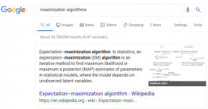 Maximization algorithms to use with Google Ads